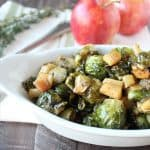 Maple Roasted Brussel Sprouts & Apples