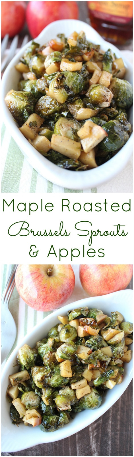 Maple Roasted Brussels Sprouts & Apples