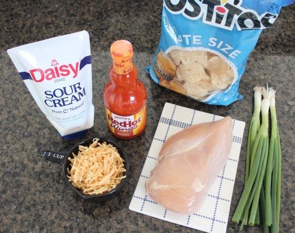 Mini Buffalo Chicken Tostadas Ingredients