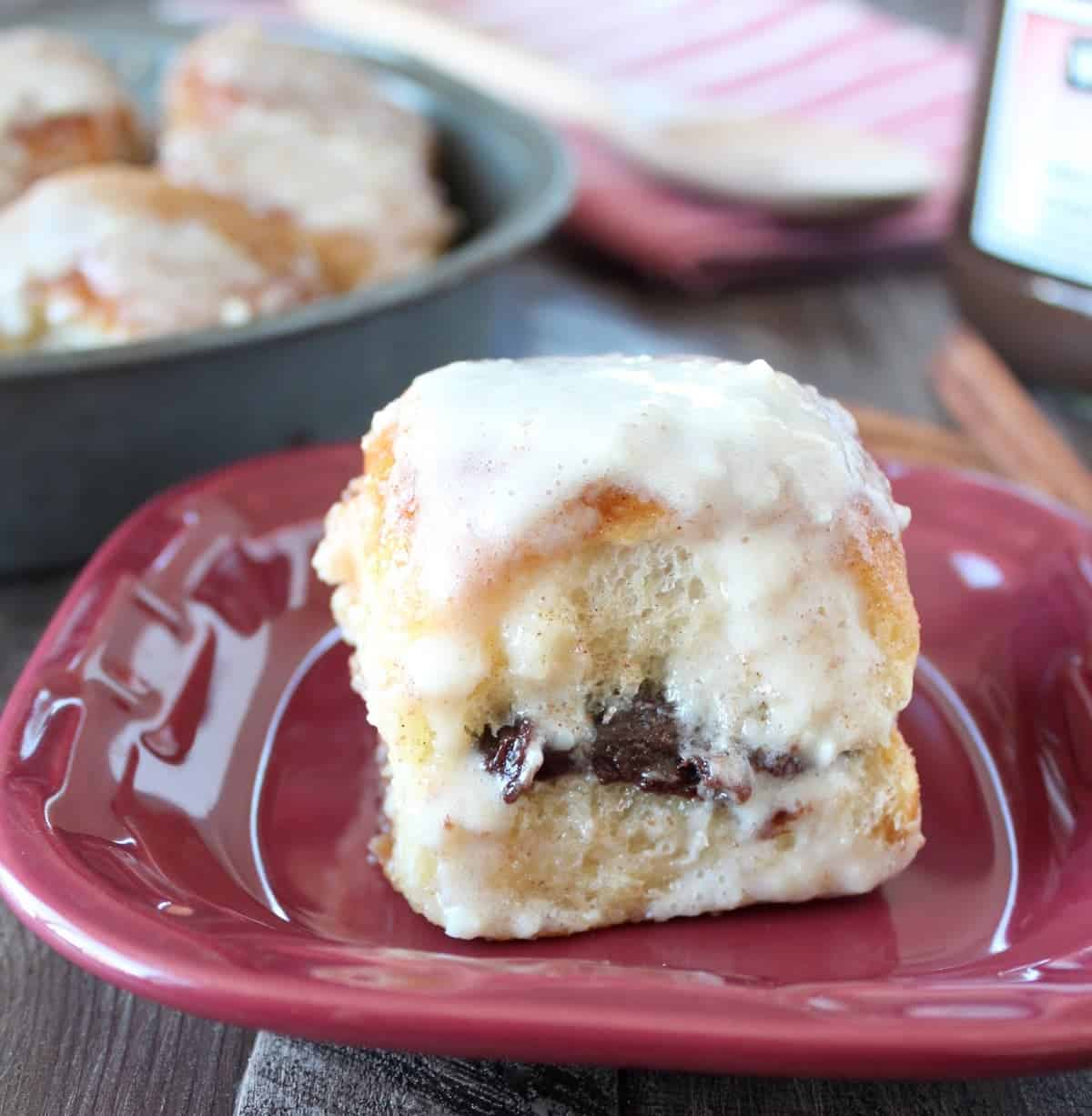 Nutella Cream Cheese Cinnamon Rolls