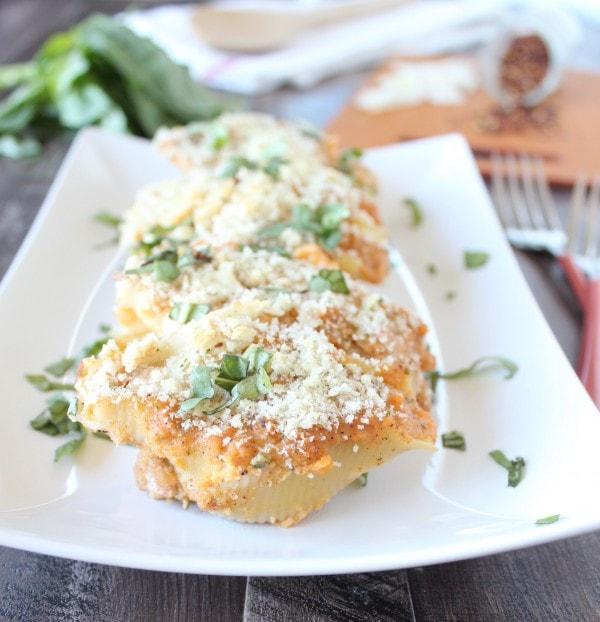 Sweet Potato Ricotta Stuffed Shells