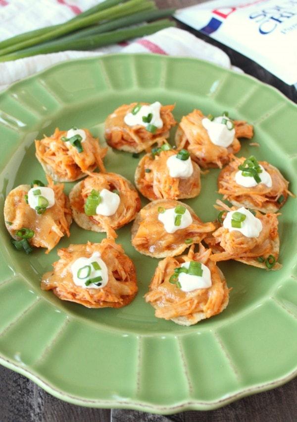 Buffalo Chicken Mini Tostadas Recipe
