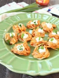 Mini Buffalo Chicken Tostadas Recipe