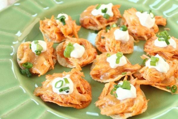 Mini Buffalo Chicken Tostadas Recipe