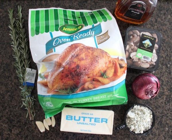 Roasted Turkey Breast with Blue Cheese Mushroom Gravy Ingredients