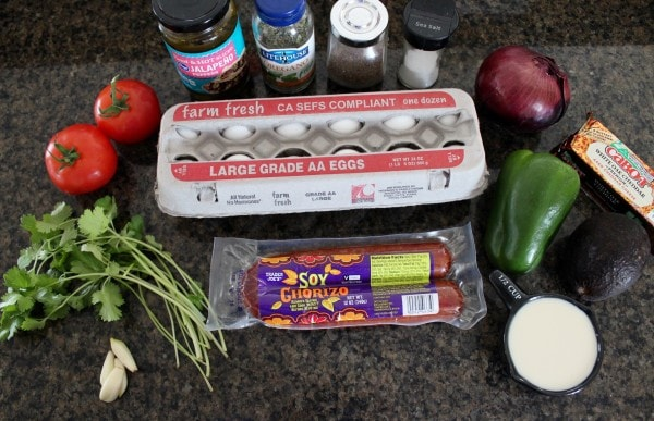 Slow Cooker Mexican Egg Casserole Ingredients