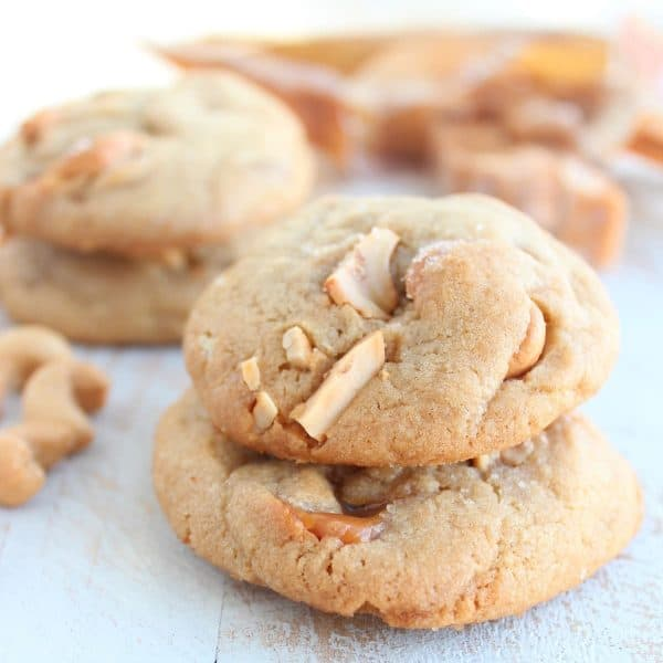 Salted Caramel Cashew Cookies Recipe
