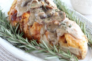 Roasted Turkey Breast with Blue Cheese Mushroom Gravy Recipe