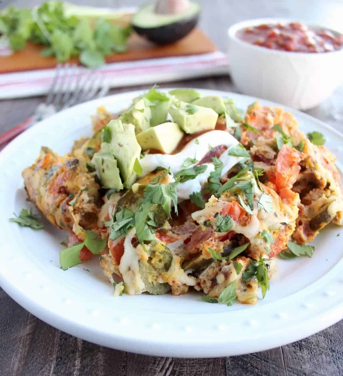 Slow Cooker Mexican Egg Casserole