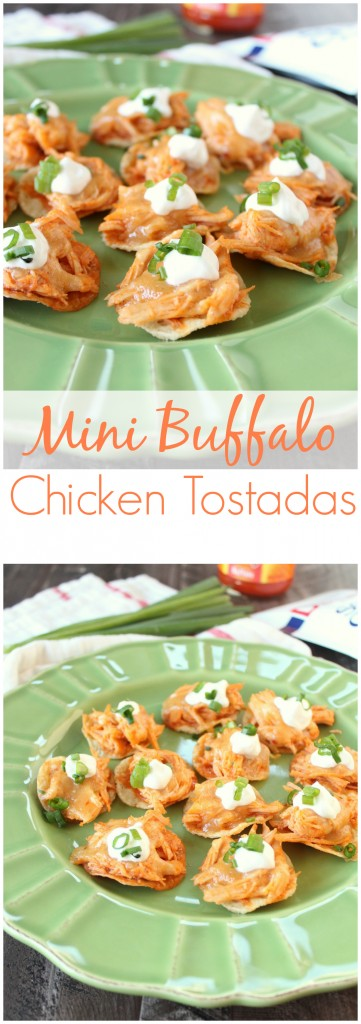 Mini Buffalo Chicken Tostadas