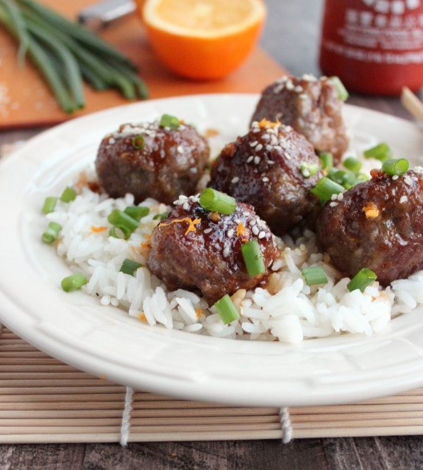 Chinese Orange Glazed Meatballs