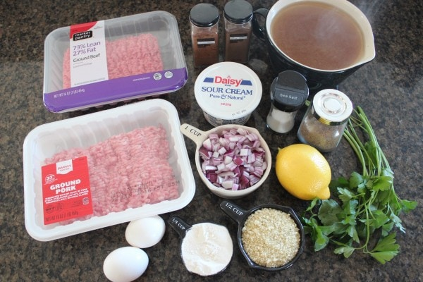 Slow Cooker Swedish Meatballs Ingredients