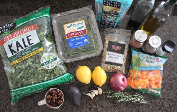 Roasted Butternut Squash Kale Salad Ingredients