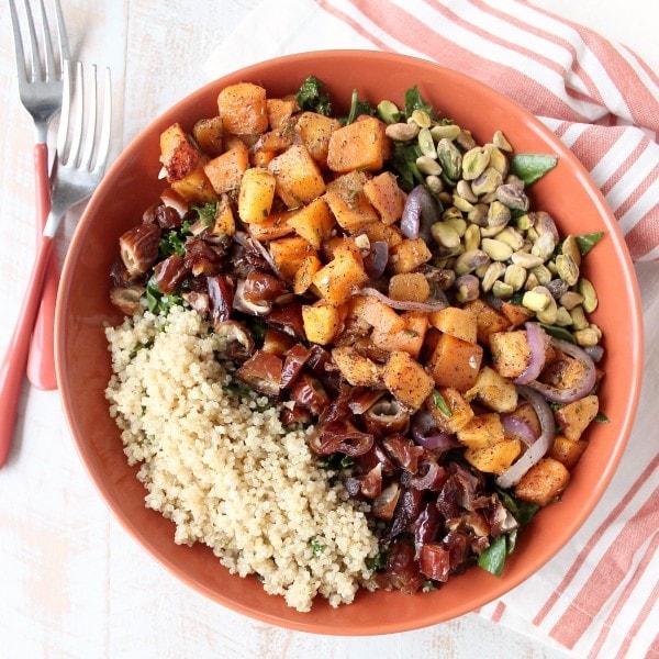 Roasted Butternut Squash Kale Salad Recipe