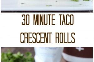 30 Minute Taco Crescent Rolls Recipe