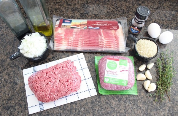Bacon Wrapped Meatloaf Recipe Ingredients