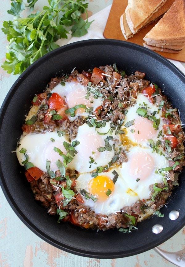 Italian Turkey Breakfast Skillet Recipe