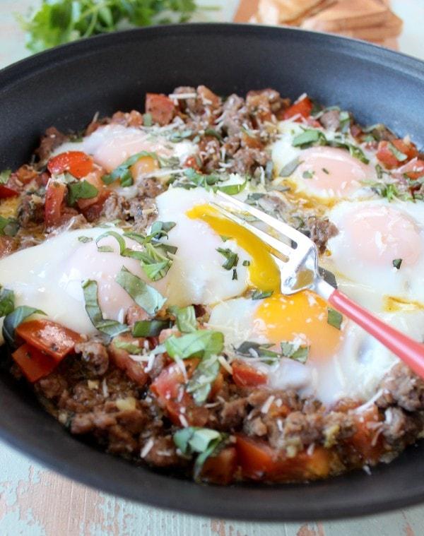 Italian Turkey & Egg Breakfast Skillet Recipe