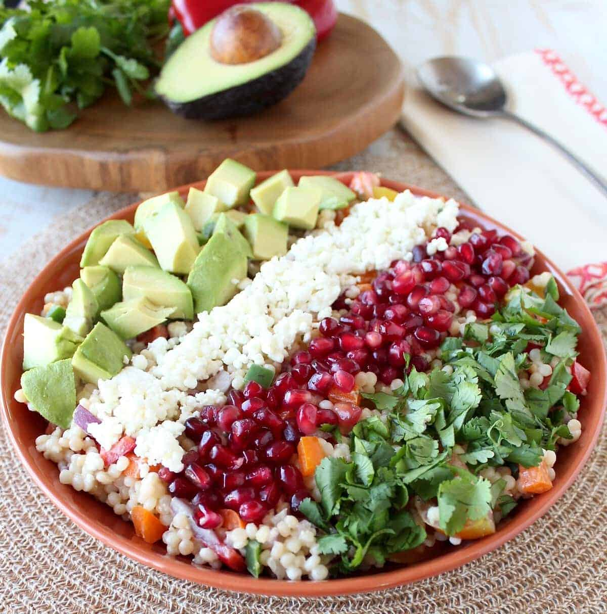 Israeli Couscous & Avocado Salad Recipe - WhitneyBond.com