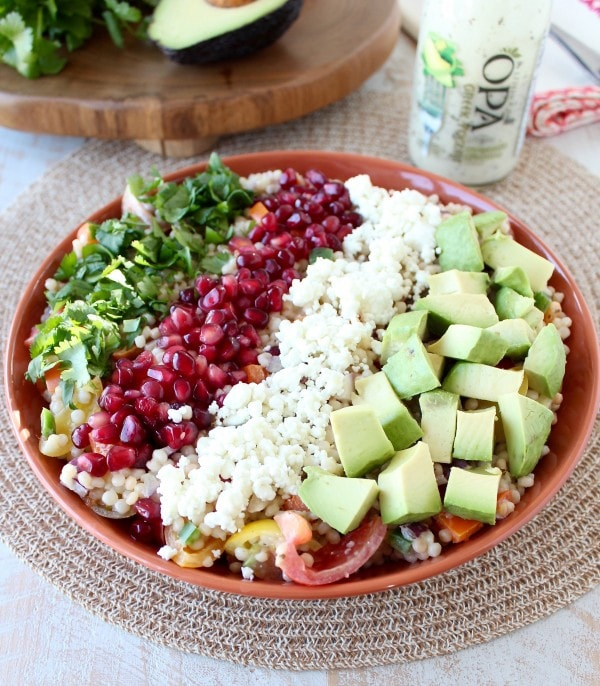 Israeli Couscous Avocado Salad Recipe