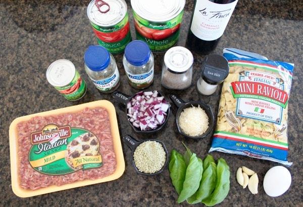 Slow Cooker Italian Meatballs & Marinara Recipe Ingredients