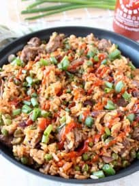 Sriracha Steak Fried Rice Recipe