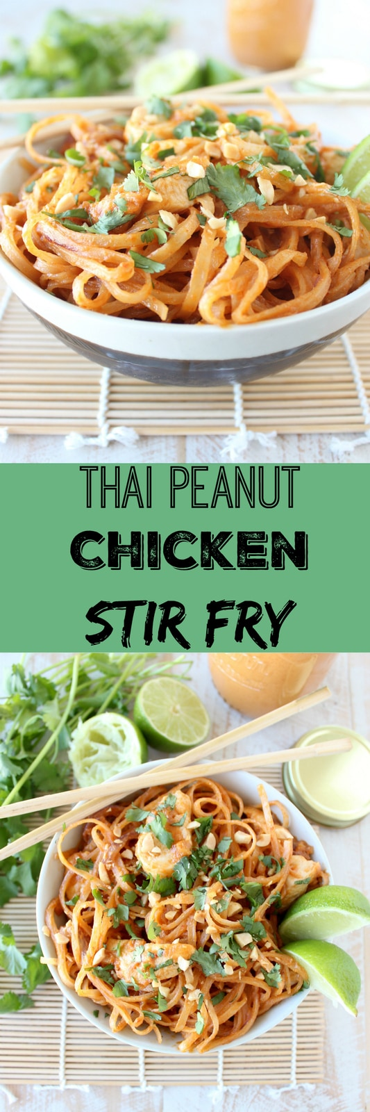 Thai Peanut Pork Noodle Saute Recipe — Dishmaps