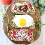 Artichoke Toast 3 Ways