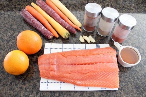 Blood Orange Baked Salmon Ingredients
