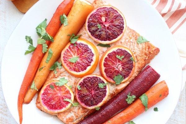 Blood Orange Baked Salmon amp Carrots