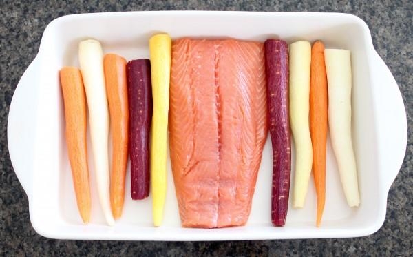 Baked Salmon & Carrots Recipe