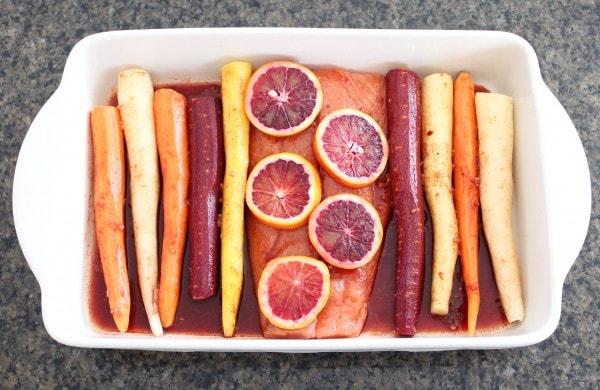 Blood Orange Baked Salmon Recipe