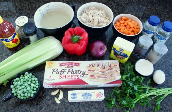 Cajun Chicken Pot Pie Recipe Ingredients
