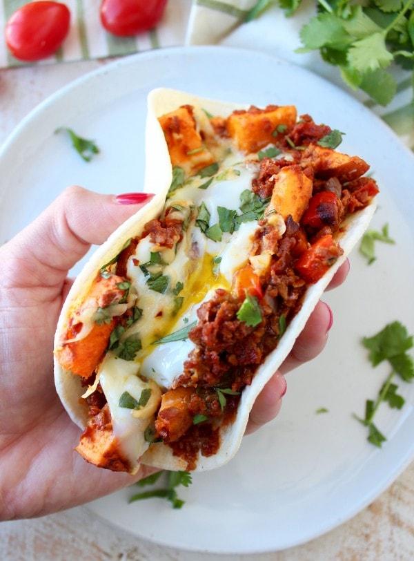 Mexican Sweet Potato Hash Breakfast Tacos