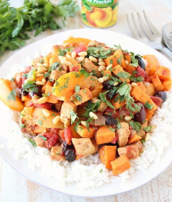 Gluten Free Moroccan Chicken and Peaches