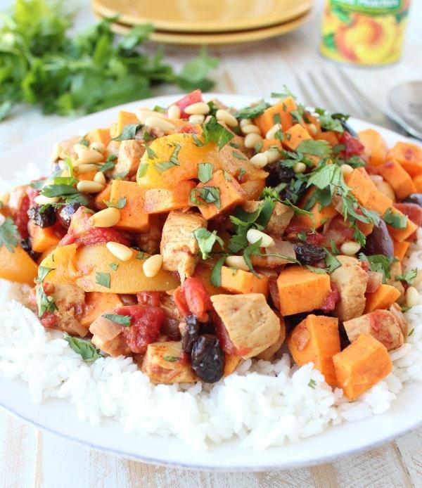 Moroccan Chicken & Peaches