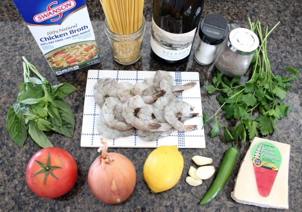 One Pot Tuscan Shrimp Scampi Pasta Ingredients