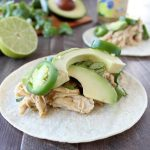 Slow Cooker Cilantro Lime Cumin Chicken Tacos
