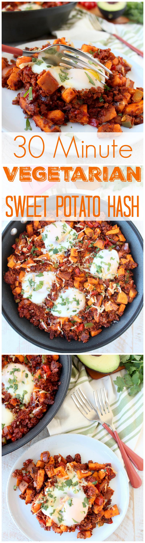 30 Minute Vegetarian Mexican Soyrizo & Sweet Potato Hash