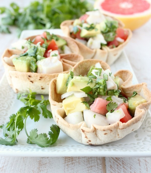 Mahi Mahi Ceviche Taco Bowls