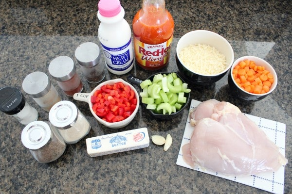 Crock Pot Buffalo Chicken Alfredo Ingredients