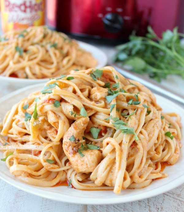 Crock Pot Buffalo Chicken Alfredo Recipe