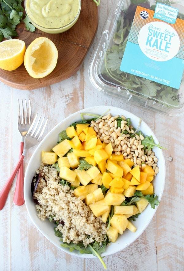 Earthbound Farm Pineapple Mango Kale Salad