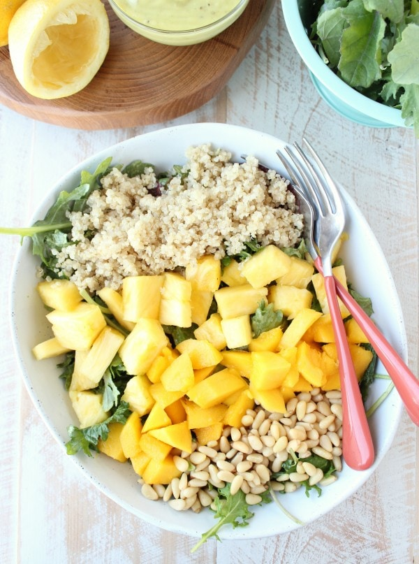 Vegan Pineapple Mango Kale Salad Recipe
