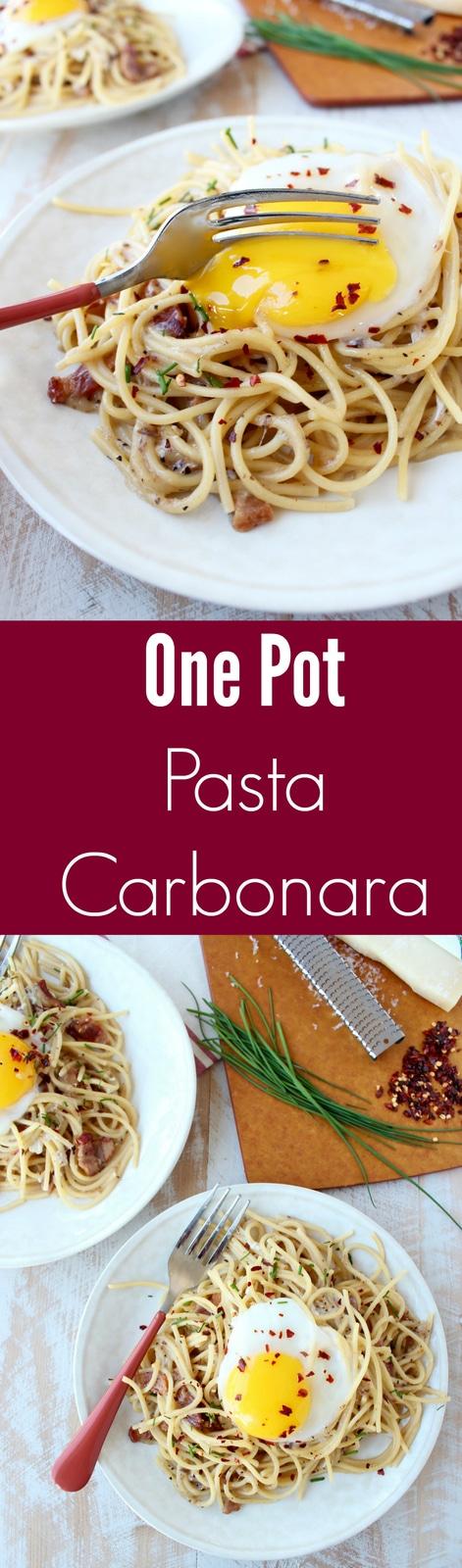 One Pot Pasta Carbonara Recipe