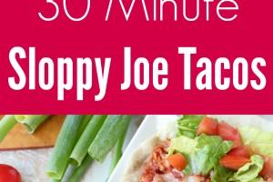 30 Minute Sloppy Joe Tacos