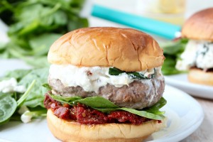 Spinach Artichoke Turkey Burgers