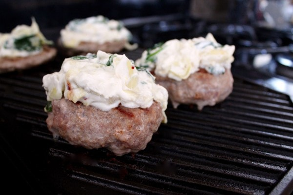 Spinach Artichoke Turkey Burgers Recipe