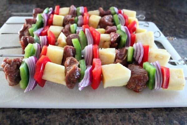 Teriyaki Pineapple Steak Skewer Recipe