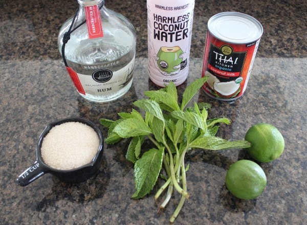 Frozen Coconut Mojito Ingredients